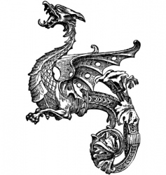 ornate dragon vector image
