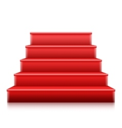 Photorealistic Isolated Red Stairs to Stage vector image vector image