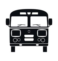 Retro Bus Icon vector image vector image