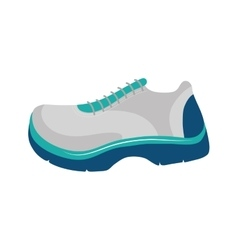 Running shoes icon healthy lifestyle design vector