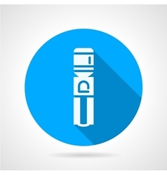 Water cooling machine blue round icon vector