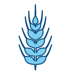 Wheat food symbol vector
