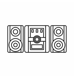 Audio system music center icon outline style vector