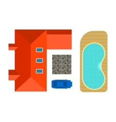 Plan of private house vector