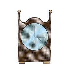 Vintage clock decoration wooden image vector
