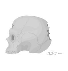 Skull single icon in monochrome styleskull vector