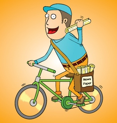 Newspaper boy vector