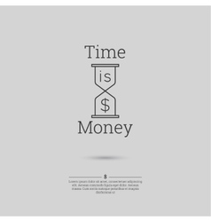 Time is money money concept vector