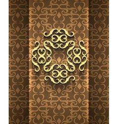 Expensive victorian pattern in retro vintage style vector