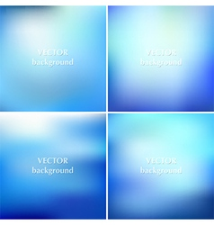 Set of abstract colorful blurred aqua water vector