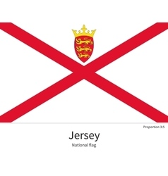 National flag of jersey with correct proportions vector