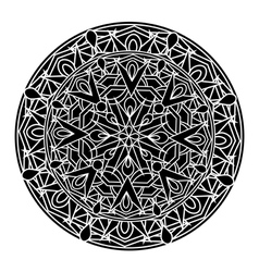 Monochrome decorative design element vector