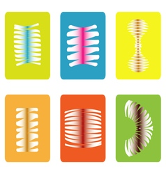 Color icon set with springs vector