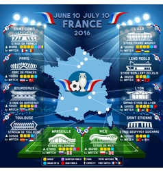 Cup euro 2016 stadium guide vector
