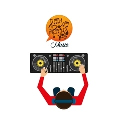 Music design dj icon white background vector