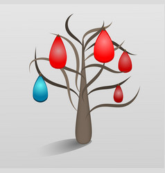 a fantastic tree with jewels vector image vector image
