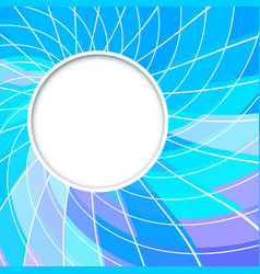 abstract background round frame vector image vector image