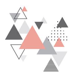abstract scandinavian geometric background vector image vector image