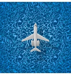 Airplane flies over a sea vector image vector image