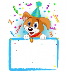 baby dog birthday vector image vector image