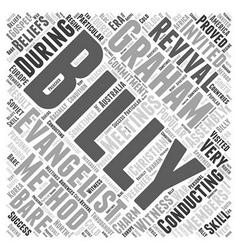 Billy graham word cloud concept vector