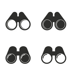 Binocular icon set vector