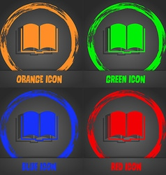 Book icon Fashionable modern style In the orange vector image vector image