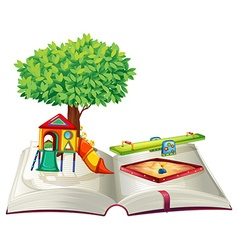 Book of playground in park vector