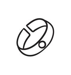 Bracelet sketch icon vector
