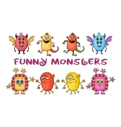 Cartoon Monsters Set vector image vector image