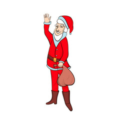 cartoon santa claus smiling vector image