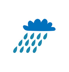 Cloud with rain sign 106 vector