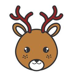 cute and tender reindeer head character vector image