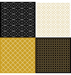 Different patterns with outline elements vector image vector image