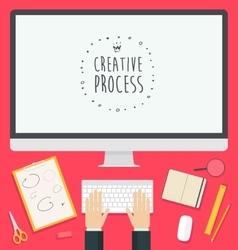 Flat design concept web creative process trendy vector