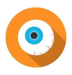Halloween eyeball icon flat vector