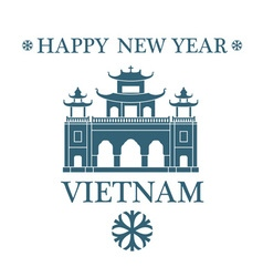 Happy new year vietnam vector