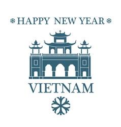 Happy new year vietnam vector