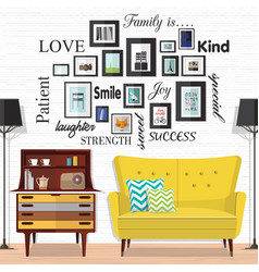 ideas for small living spaces vector image vector image