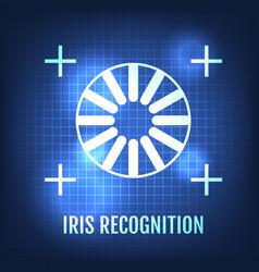 Iris recognition concept icon eye identification vector