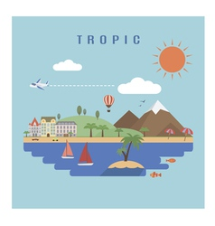 Landscape tropic vector image vector image