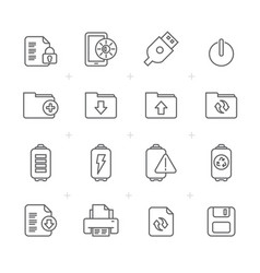 Line internet web and mobile icons vector