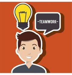 Man teamwork idea icon vector