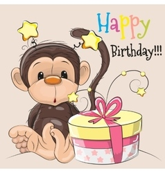 Monkey with gift vector