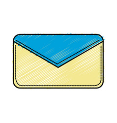 Nice letter close with important message vector