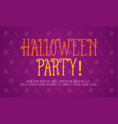 On purple background halloween style vector