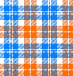Orange and blue light tartan seamless pattern vector