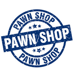 Pawn shop blue round grunge stamp vector