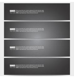 Set of modern banners dark design textured vector image vector image