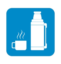 Thermos container icon vector image